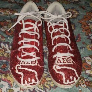 Custom Delta Sigma Theta Sneakers - Womens Sz 11